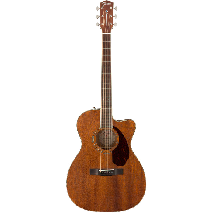 Fender Paramount PM-3 Triple-0 All-Mahogany Acoustic Guitar with Case