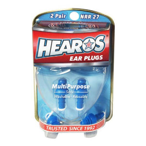 Hearos Multi-Purpose Ear Plugs - 2 Pairs + Case