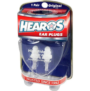 Hearos High Fidelity Musician's Ear Plugs + Case