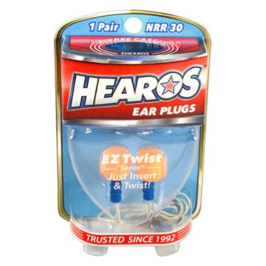 Hearos EZ Twist Ear Plugs + Case