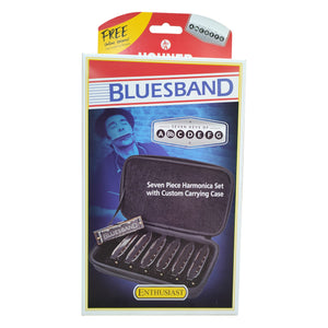 Hohner Blues Band 7-Piece Harmonica Starter Set with Carry Case