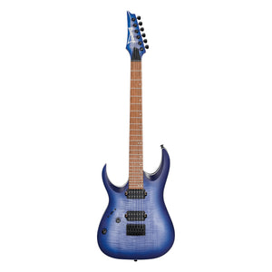 Ibanez RGA42FML BLF Left Handed Electric Guitar - Blue Lagoon Burst Flat