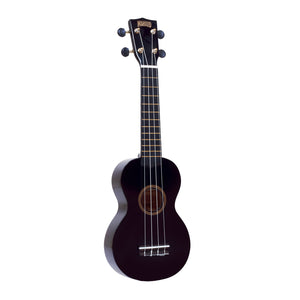 Mahalo MR1BK Rainbow Series Soprano Ukulele with Carry Bag - Black - Downtown Music Sydney