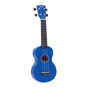 Mahalo MR1BU Rainbow Series Soprano Ukulele with Carry Bag - Blue - Downtown Music Sydney