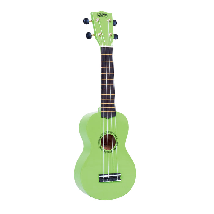 Mahalo MR1GN Rainbow Series Soprano Ukulele with Carry Bag - Green