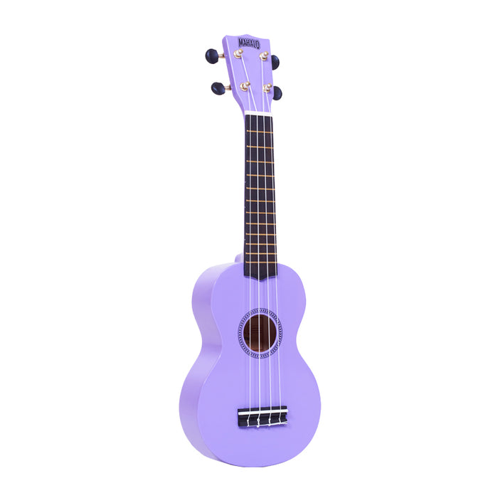 Mahalo MR1PP Rainbow Series Soprano Ukulele with Carry Bag - Purple