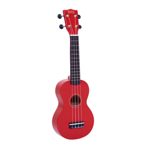 Mahalo MR1RD Rainbow Series Soprano Ukulele with Carry Bag - Red - Downtown Music Sydney