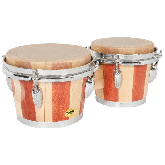"Mano Percussion 6 1/2"" & 7 1/2"" Bongo Drums"