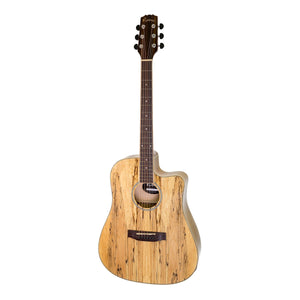 Martinez MEC-40-MOG Mosaic Acoustic/Electric Guitar - Natural Gloss