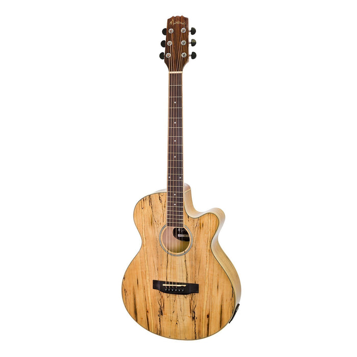 Martinez MFEC-40-MOS Mosaic Acoustic/Electric Guitar - Natural Satin