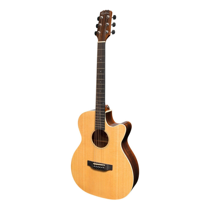 Martinez MFPC-7C-NGL Southern Star Acoustic/Electric Guitar with Case
