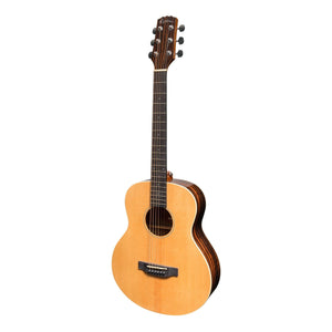 Martinez MTT-7-NGL Southern Star Acoustic/Electric TS Mini Guitar with Case - Downtown Music Sydney