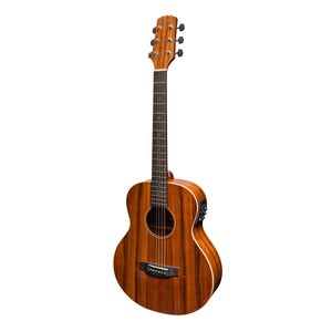 Martinez Southern Star Left Handed Acoustic/Electric TS Mini Guitar with Case - Downtown Music Sydney