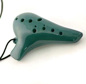 Minin Soprano Ocarina in C with Pouch - Green - Downtown Music Sydney