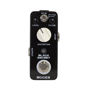 Mooer Black Secret Distortion Micro Pedal - Downtown Music Sydney
