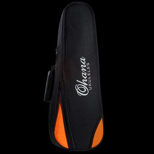 Ohana DB-21 Deluxe Tenor Ukulele Gig Bag - Orange