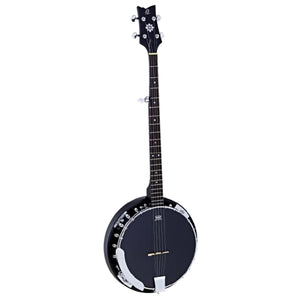 Ortega OBJ250-SBK Raven Series 5-String Banjo with Gig Bag