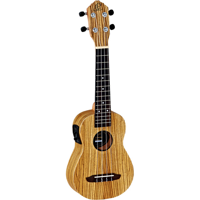 Ortega RFU10ZE Acoustic/Electric Soprano Ukulele with Bag