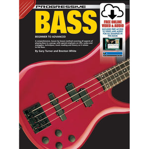 Progressive Bass Guitar Book with Online Audio & Video - Downtown Music Sydney