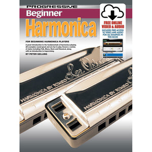 Progressive Beginner Harmonica Book with Online Audio & Video - Downtown Music Sydney