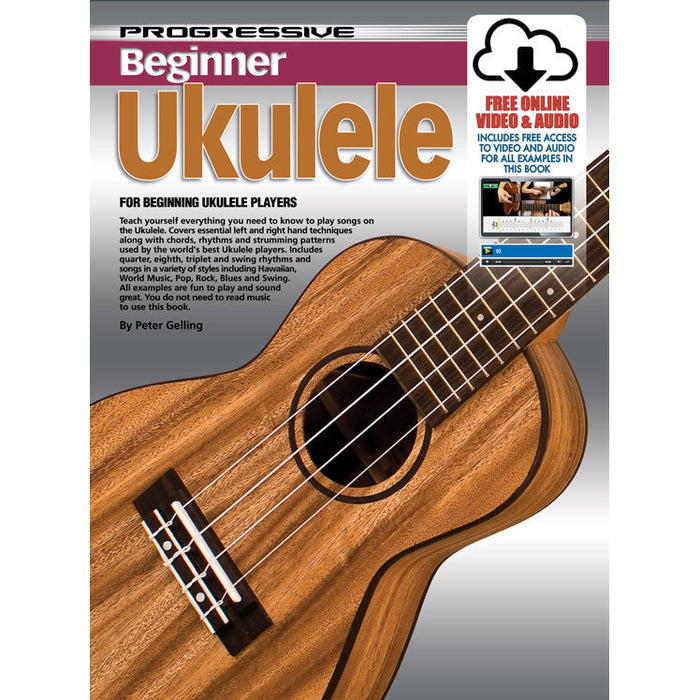 Progressive Beginner Ukulele Book with Online Audio & Video