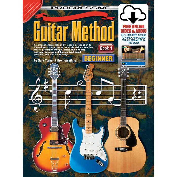 Progressive Guitar Method Book 1 with Online Audio & Video