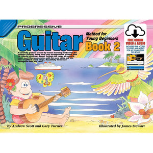 Progressive Guitar Method for Young Beginners Book 2 with Online Audio & Video - Downtown Music Sydney