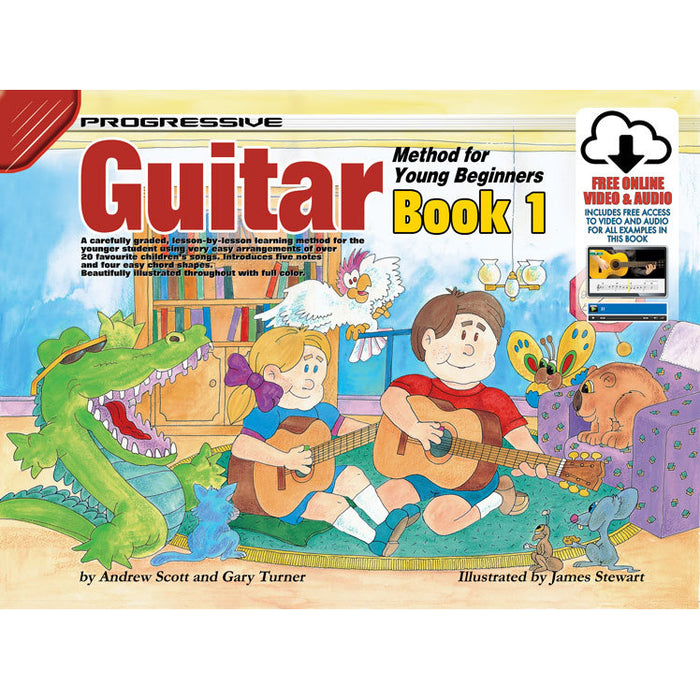 Progressive Guitar Method for Young Beginners Book 1 with Online Audio & Video