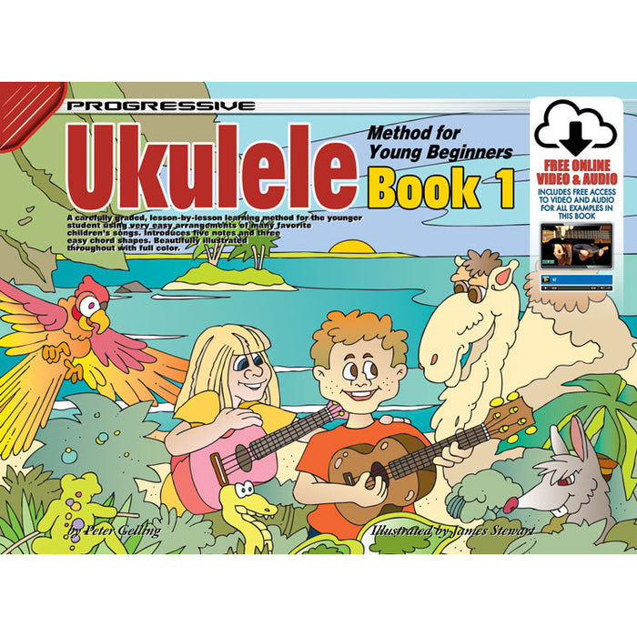 Progressive Ukulele Method for Young Beginners Book 1 with Online Audio & Video