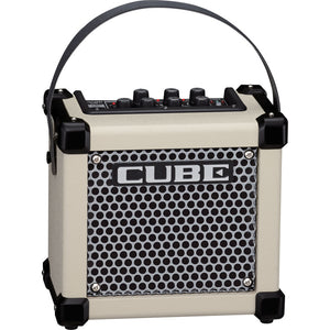 Roland MCUBEGXW Micro Cube GX 3-Watt Battery-Powered Guitar Amp - White - Downtown Music Sydney