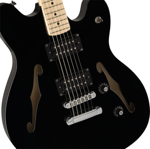 Squier Affinity Starcaster Electric Guitar - Black - Downtown Music Sydney