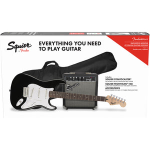 Squier Stratocaster Pack - Black - Downtown Music Sydney