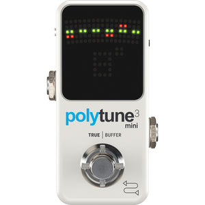 TC Electronic PolyTune 3 Mini Polyphonic Tuner Pedal with Buffer