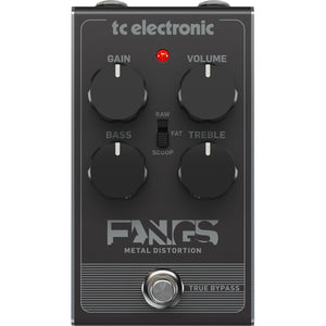 TC Electronic Fangs Metal Distortion Pedal - Downtown Music Sydney