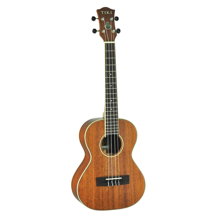 Tiki TMT-5-NST Solid Top Mahogany Tenor Ukulele with Case