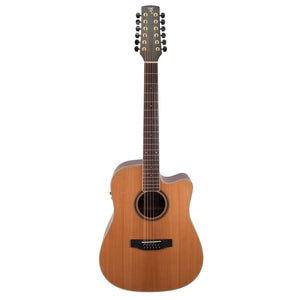 Timberidge TRC-412-NST 4 Series 12-String Acoustic/Electric Guitar with Case
