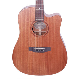 Timberidge TRC-MMAS-NST Messenger Acoustic/Electric Guitar with Case