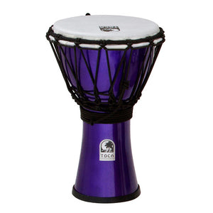 "Toca Freestyle Coloursound 7"" Djembe - Metallic Indigo - Downtown Music Sydney"