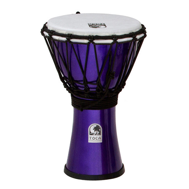 "Toca Freestyle Coloursound 7"" Djembe - Metallic Indigo"