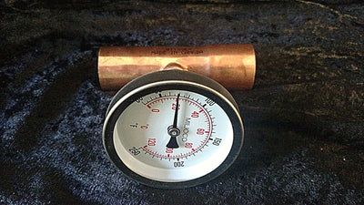Copper Manifold Combo Tempature Gauge Kit