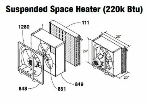 Central Boiler (COMPLETE) Suspended/Hanging Space Heater (220 Btu)