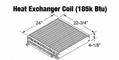 Central Boiler Heat Exchanger Coil (185k Btu) #110