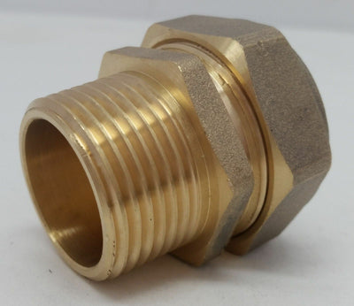 "Out Door Wood Boiler 1"" Pex-al-Pex / Kitec Compression Fitting  MPT Male Pipe"