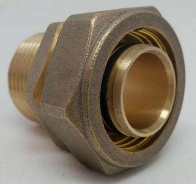 "Out Door Wood Boiler 3/4"" Pex-al-Pex / Kitec Compression Fit MPT Male Pipe"