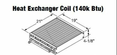 Central Boiler Heat Exchanger Coil (140k Btu) #108