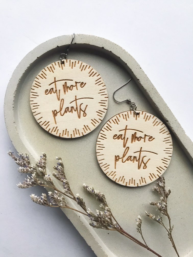ENVISION POSITIVE | Eat More Plants Earrings