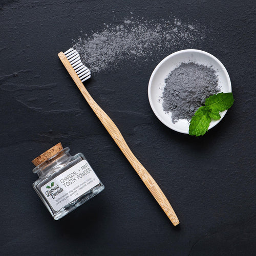 BESTOWED ESSENTIALS | Charcoal + Mint Toothpowder - BULK