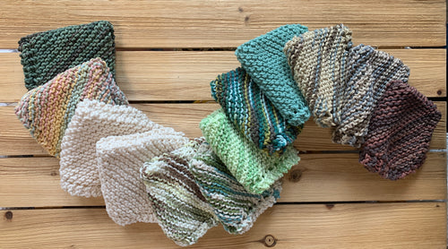 Handmade, Cotton Knit Towels