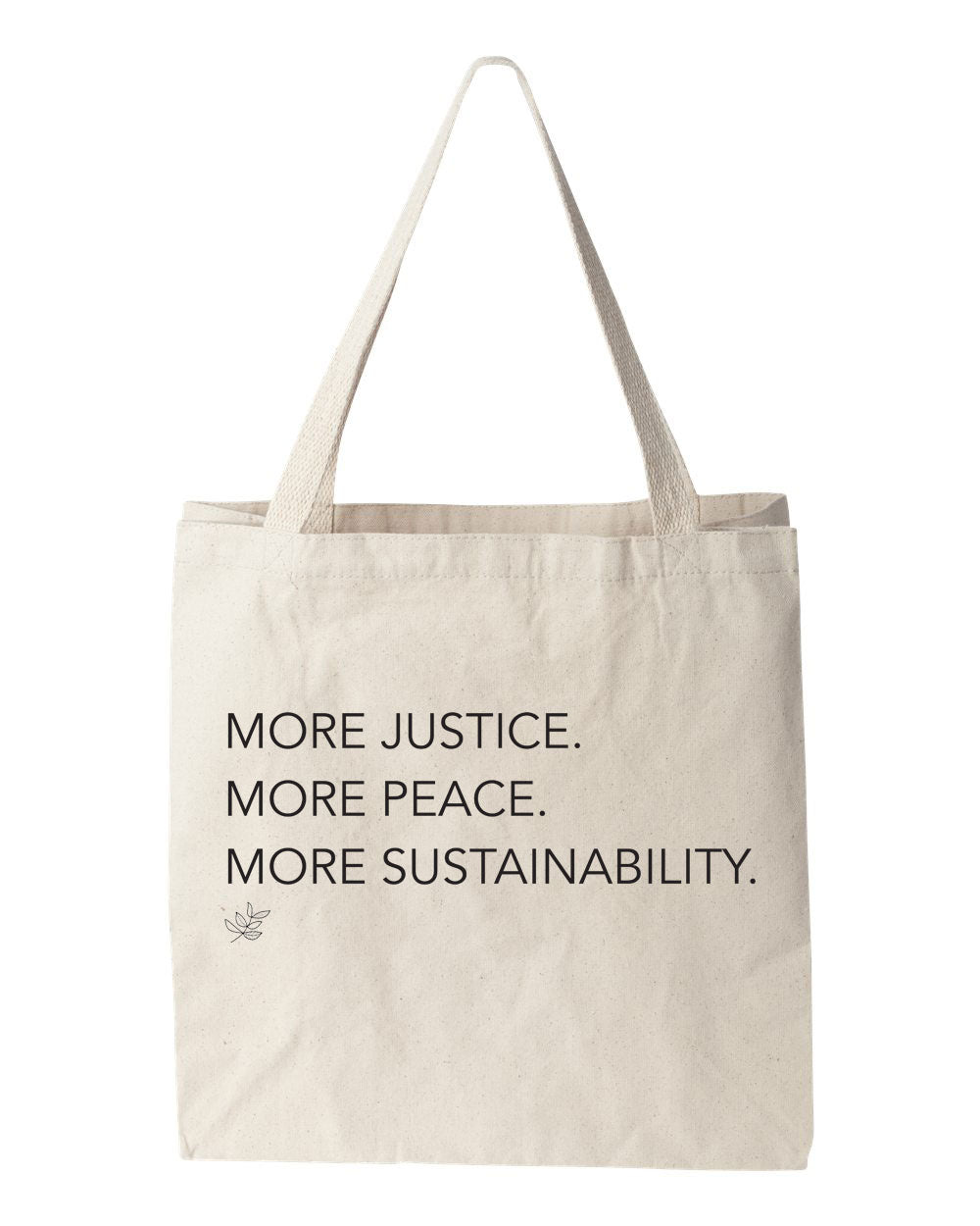 Tote bag | JUSTICE. PEACE. SUSTAINABILITY.
