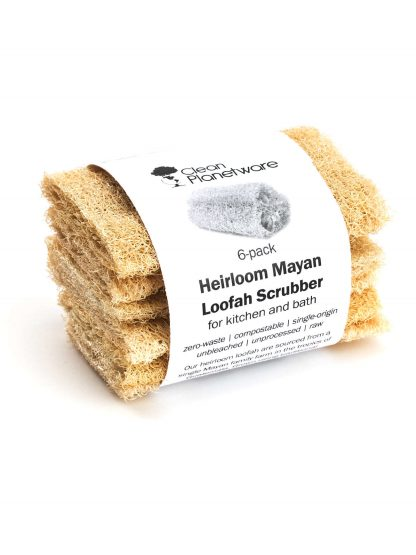 Heirloom Mayan Loofah Scrubbers (6pack)